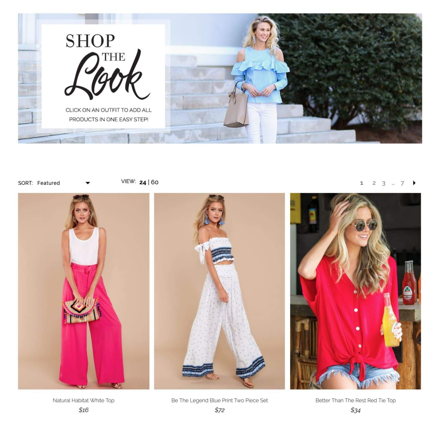 Best fashion ecommerce sites example for red dress boutique