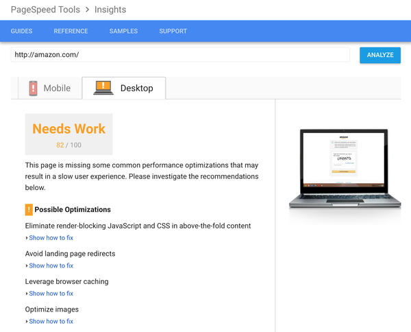 After mobile, improve your site performance and page speeds with PageSpeed Insights for desktop