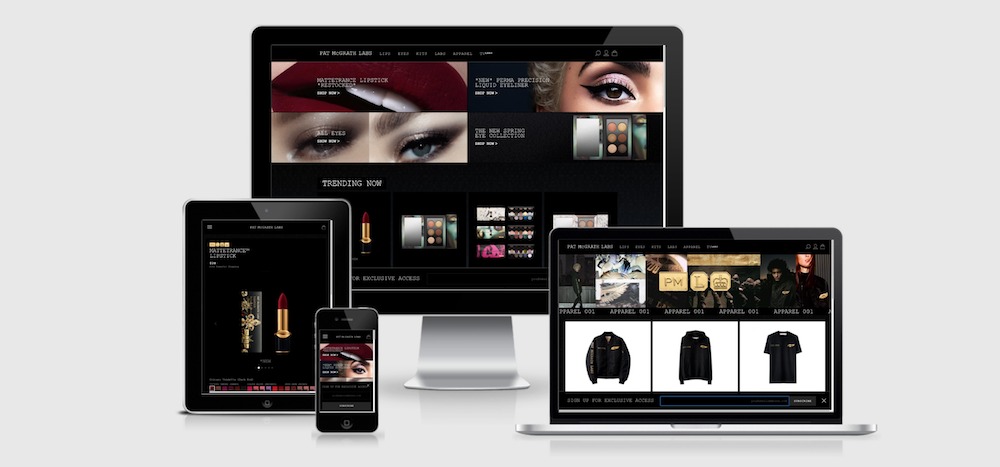 Pat McGrath Labs is one of the top beauty ecommerce sites
