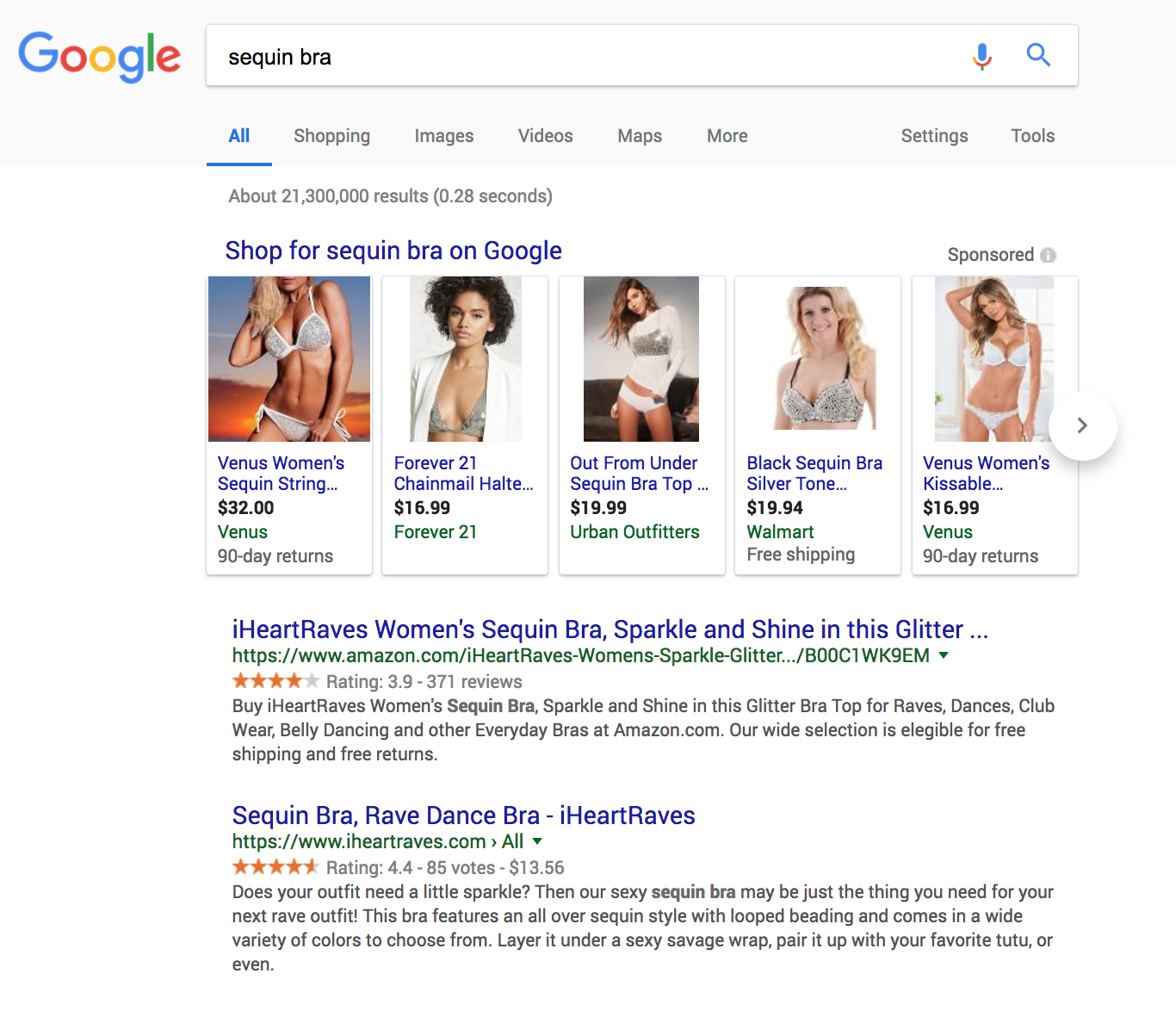SERP results and the effect of product descriptions on SEO