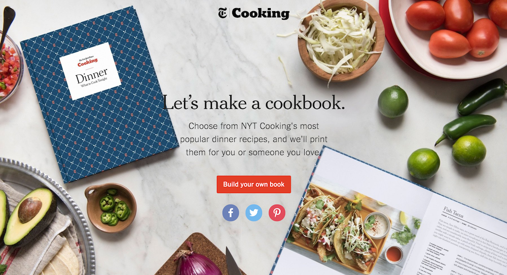 The New York Times personalized cookbook on Shopify Plus