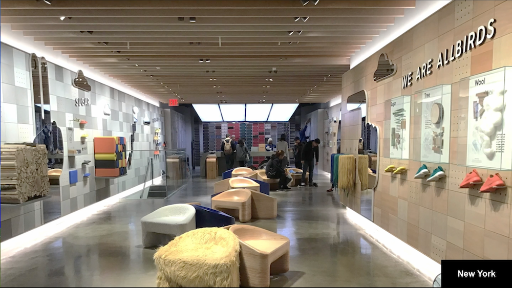 Allbirds store in New York