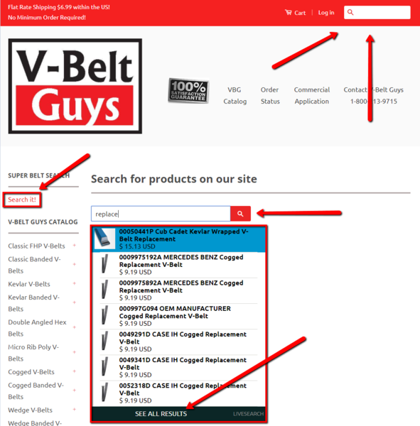 V Belt Guys catalog based approach