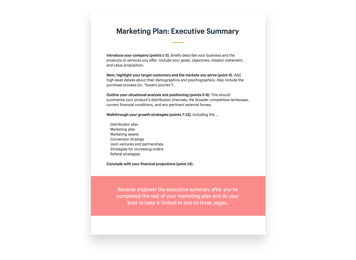 one page ecommerce business plan pdf