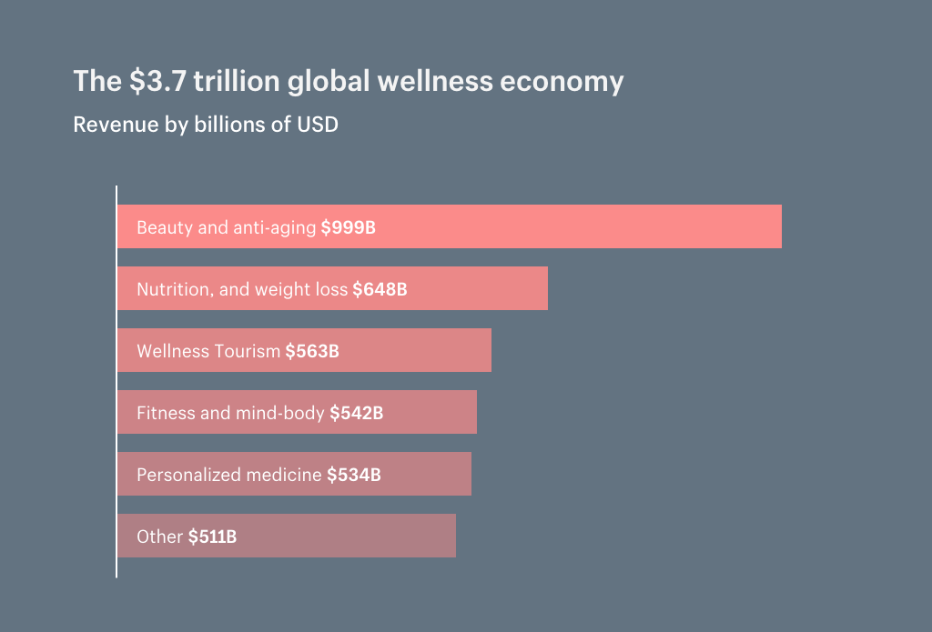 Global wellness economy by market segment