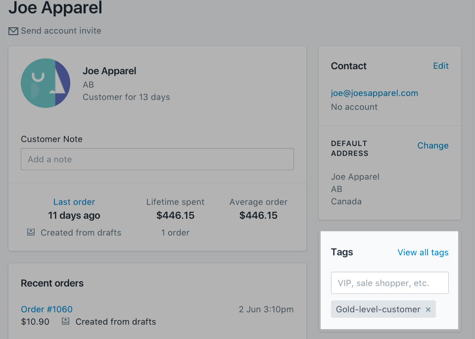 Shopify Plus' wholesale ecommerce platform lets you apply pricing lists to individual customers or customer groups