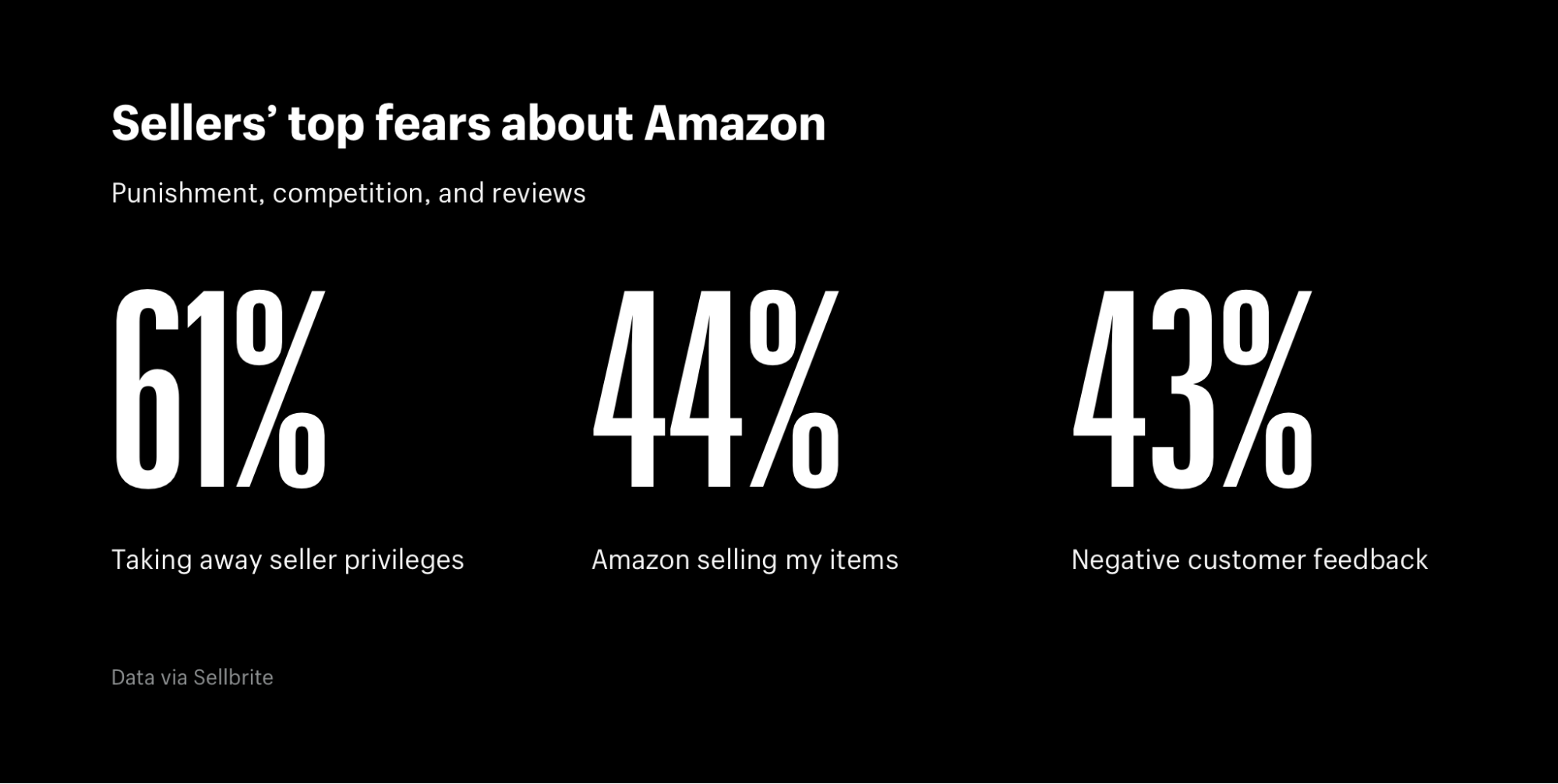 Sellers' fears associated with Amazon