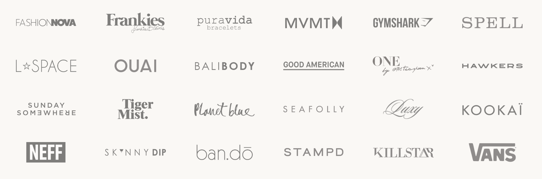 Sampling of the high-growth brands using Foursixty