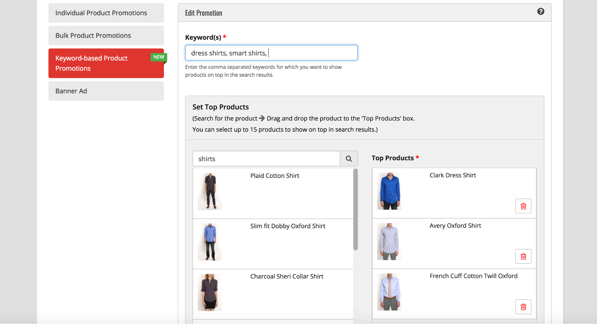 An ecommerce search solution should enable merchandising
