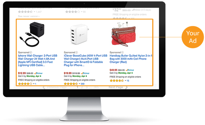 Multi-channel Amazon advertising examples
