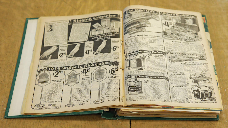 Original pages from the Sears Wish Book