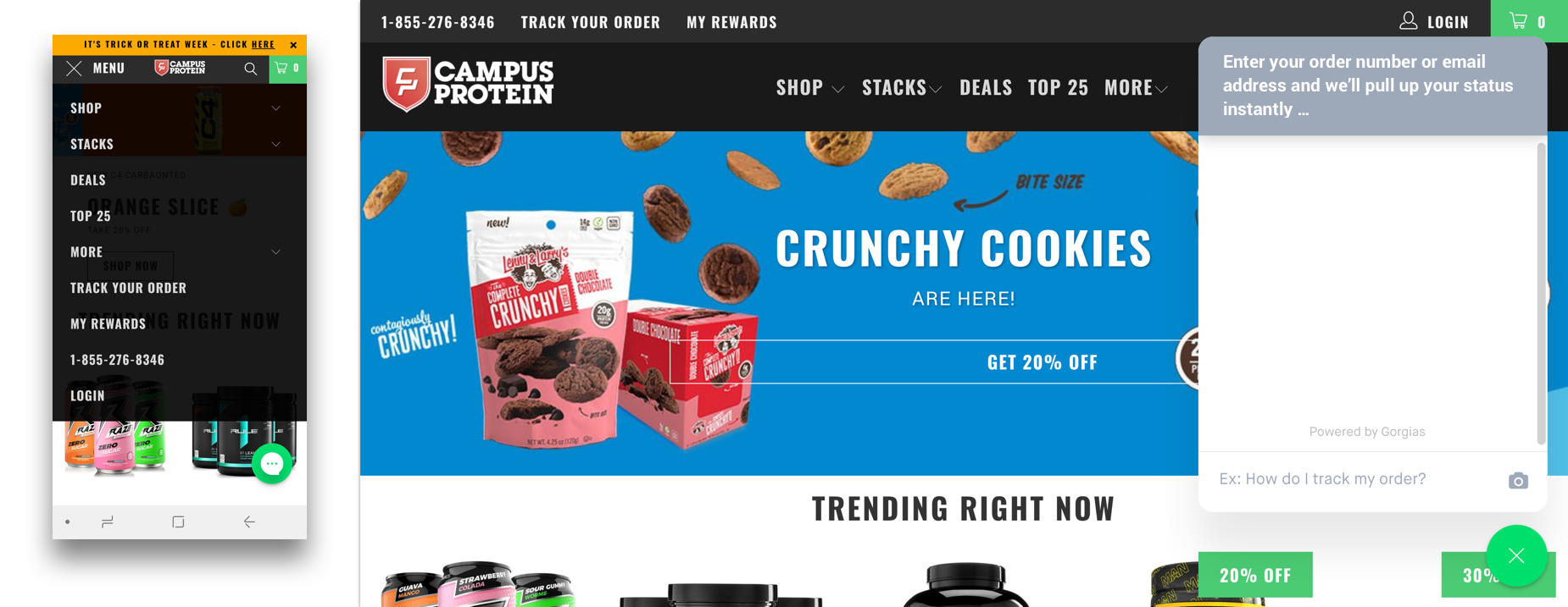 Holiday communication channels for ecommerce customer service from Campus Protein