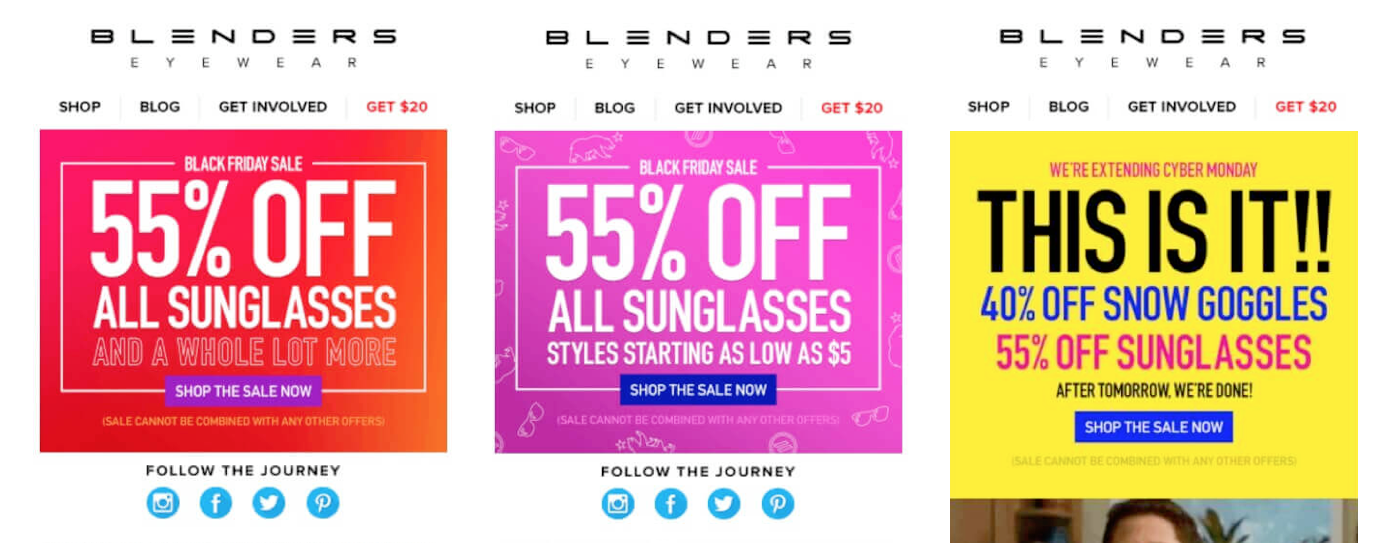 "Blenders' Black Friday Cyber Monday promotion had to be, its founder says, ""ballsy"" enough to stand out"