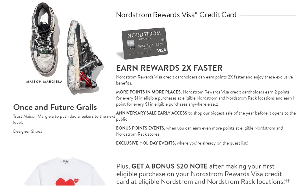 nordstrom rewards its customers Nordstrom inc rewards its shareholders  the move was designed to free up the substantial capital nordstrom had invested in the credit card business to finance customers' purchases nordstrom.