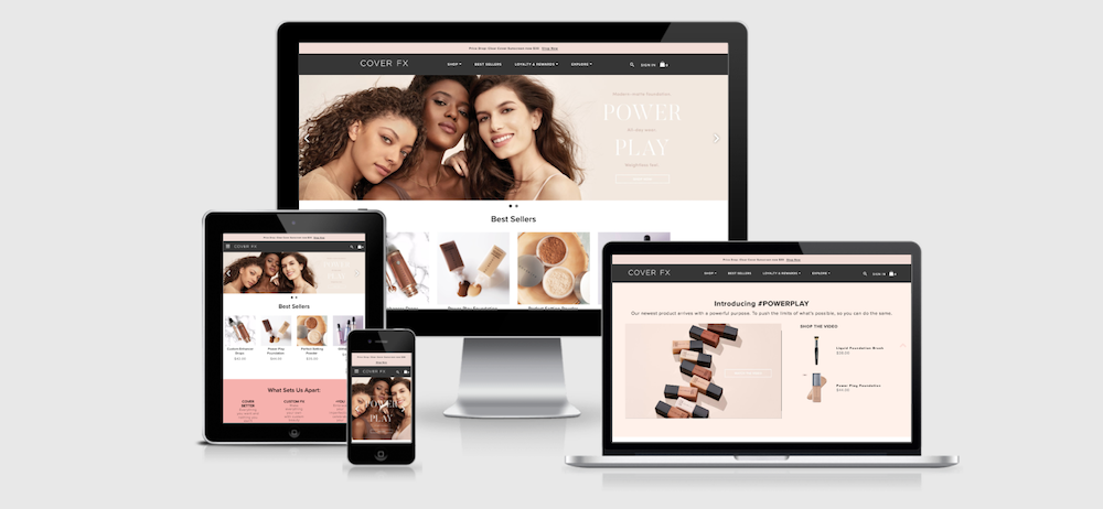 CoverFX is a top beauty ecommerce website