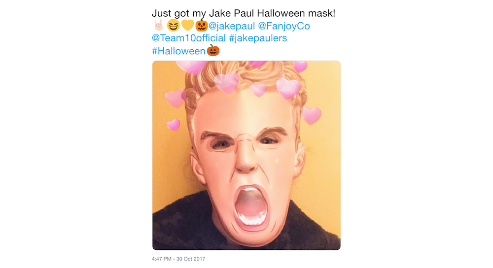 Halloween marketing campaign via user-generated content