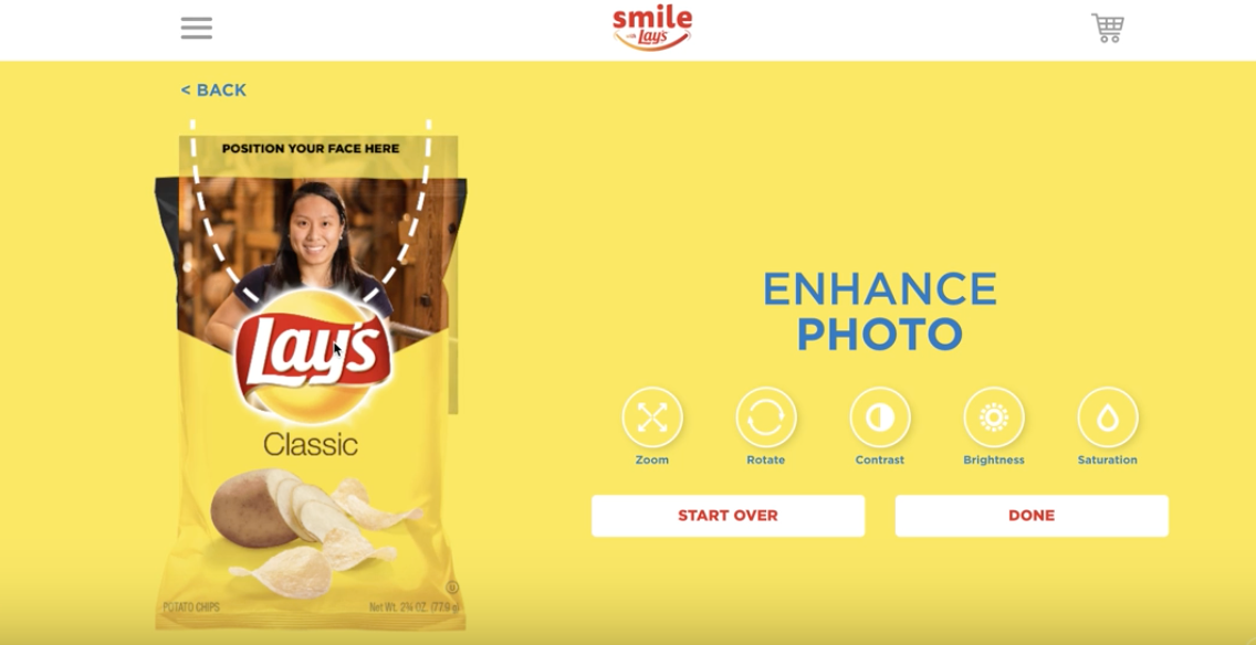Lay's uses customization to engage a consumer audience willing to spend more on products to have them their way