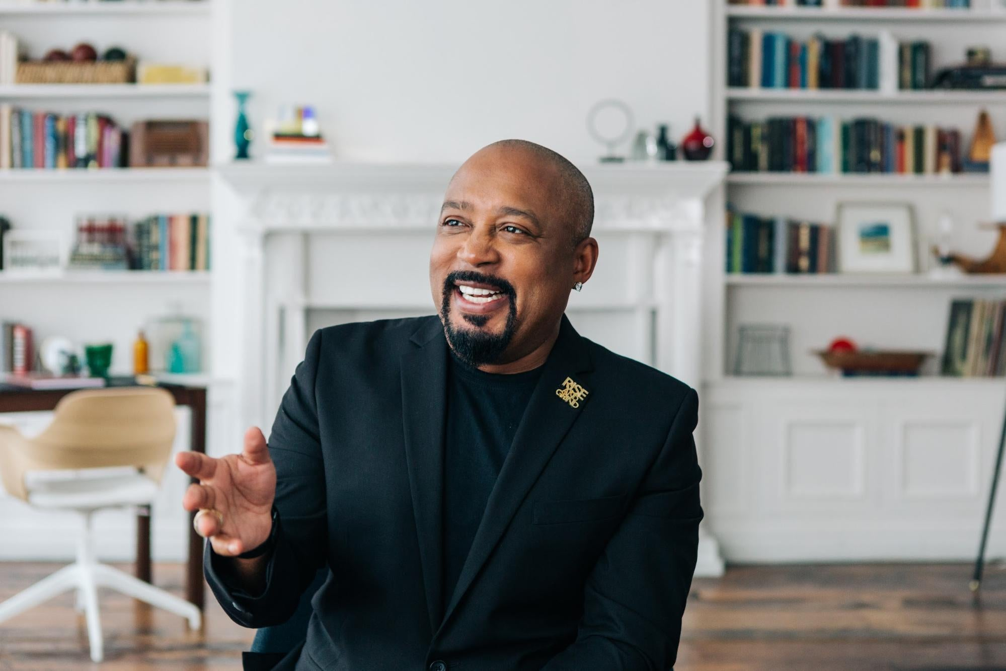 Daymond John was all smiles after selling his $2 million house for $8 million