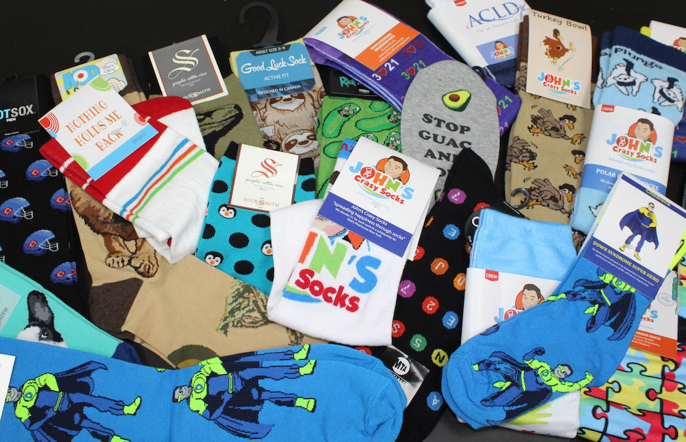 John's Crazy Socks boasts more than 2,300 SKUs in all.