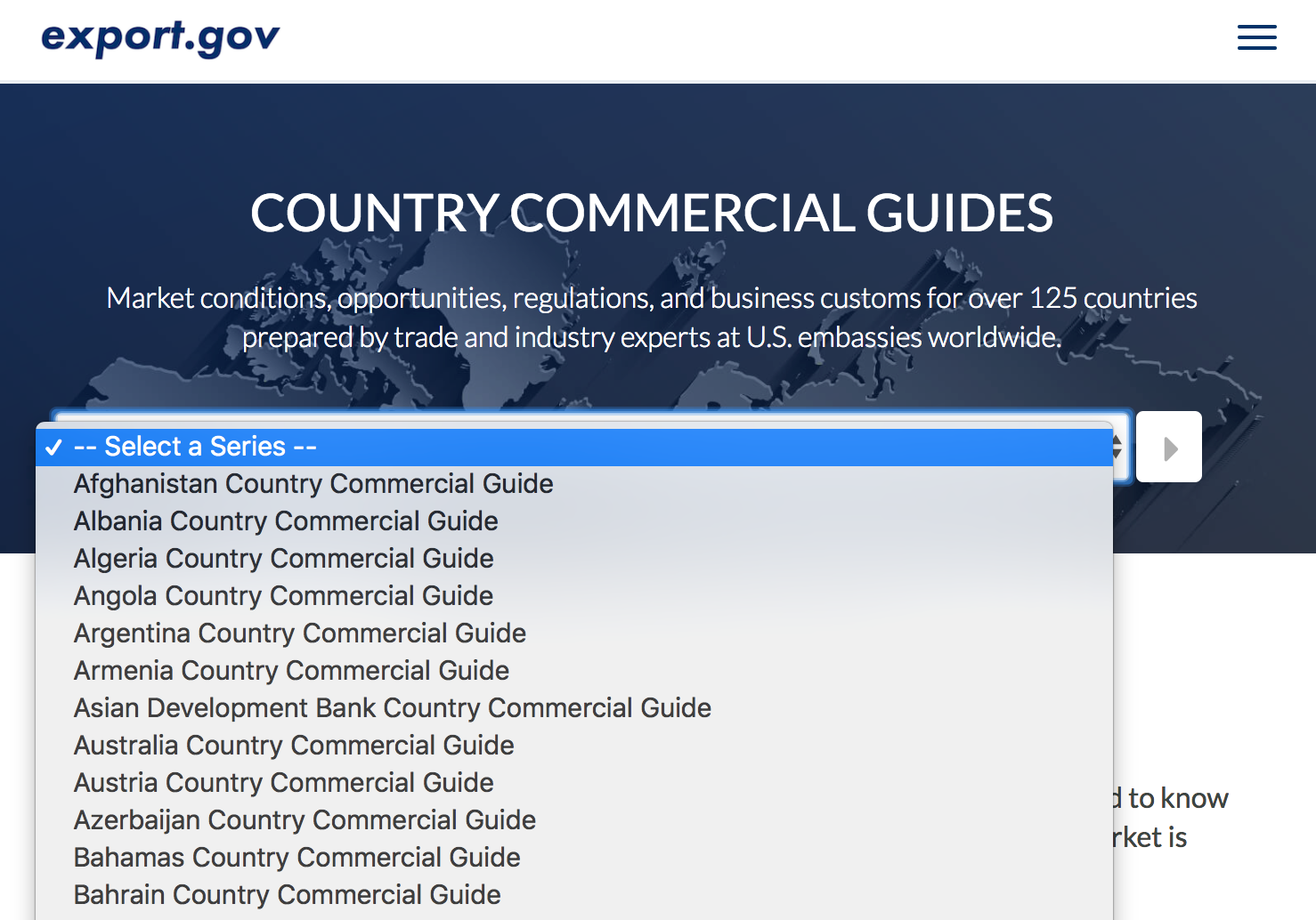 Country commercial guides from Export.gov on global fulfillment