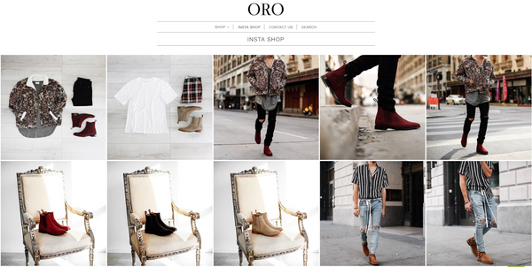 ORO Los Angeles uses Foursixty to replicate Instagram for ecommerce