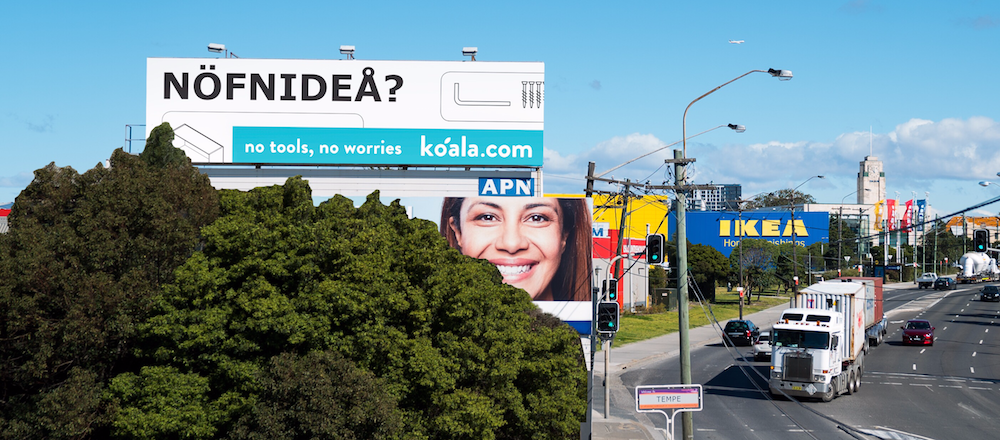 Koala goes bold with their holiday marketing offline and online