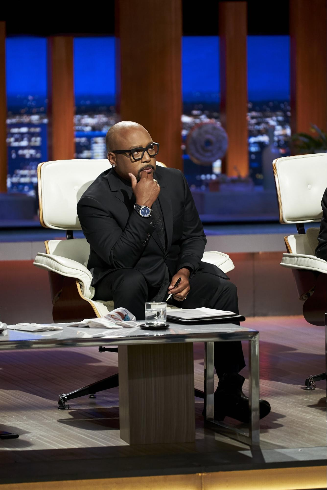 "Daymond John on the set of ""Shark Tank"""