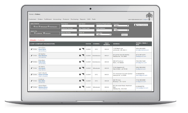 Orderbot Inventory Management Systems Screenshot