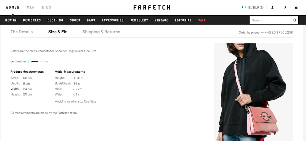 b12c6ab70fd Online boutique marketplace Farfetch includes plenty of flat and lifestyle  shots