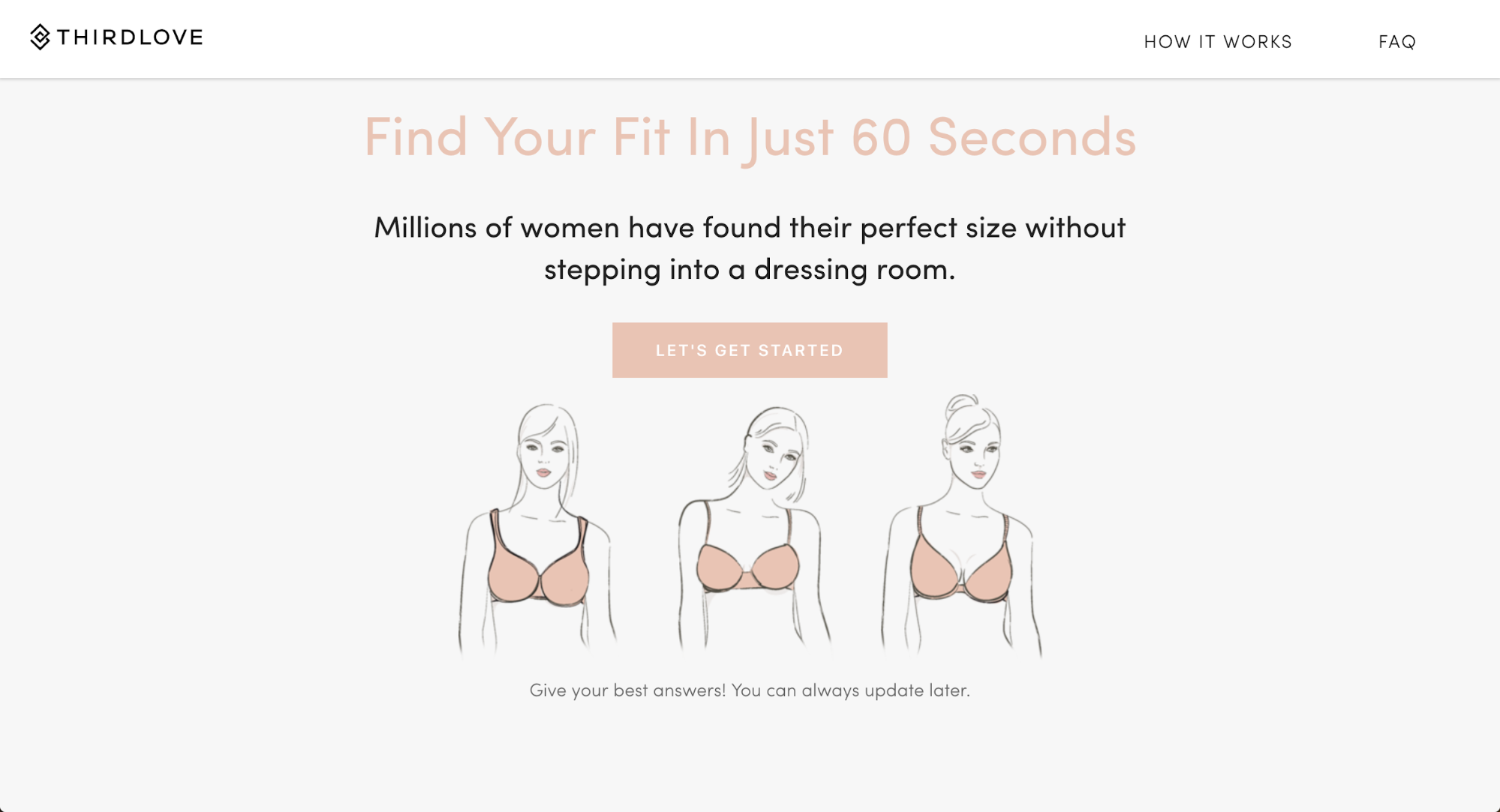 More than ten million women have entered their measurements in Fit Finder, a data boon for ThirdLove