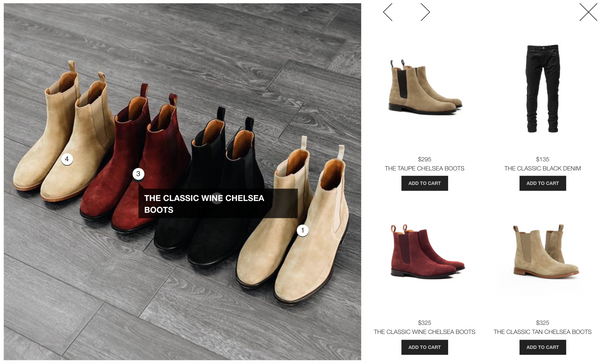 A more detailed look at ORO Los Angeles' onsite replication of Instagram for ecommerce