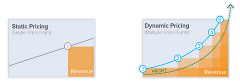 difference between static and dynamic pricing