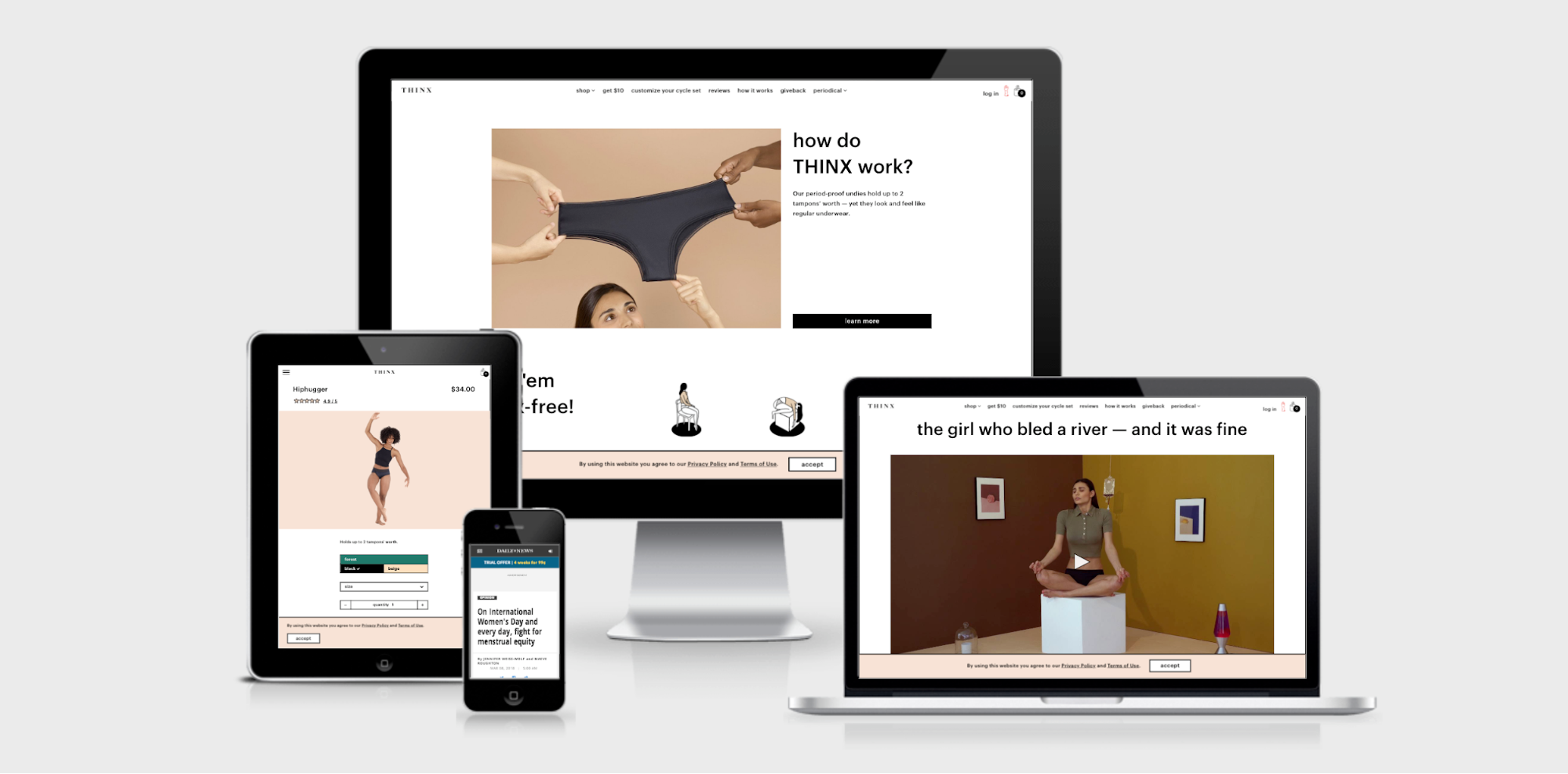 THINX homepage