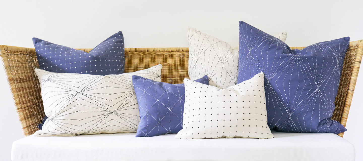 Anchal Project's New Collection of Sustainable Home Decor featuring Decorative Throw Pillows