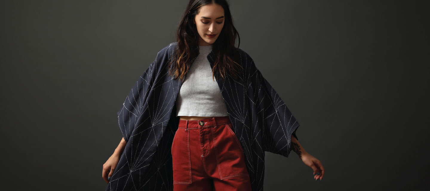Anchal Project's New Collection of Sustainable Outerwear featuring Quilted Cocoon Jackets