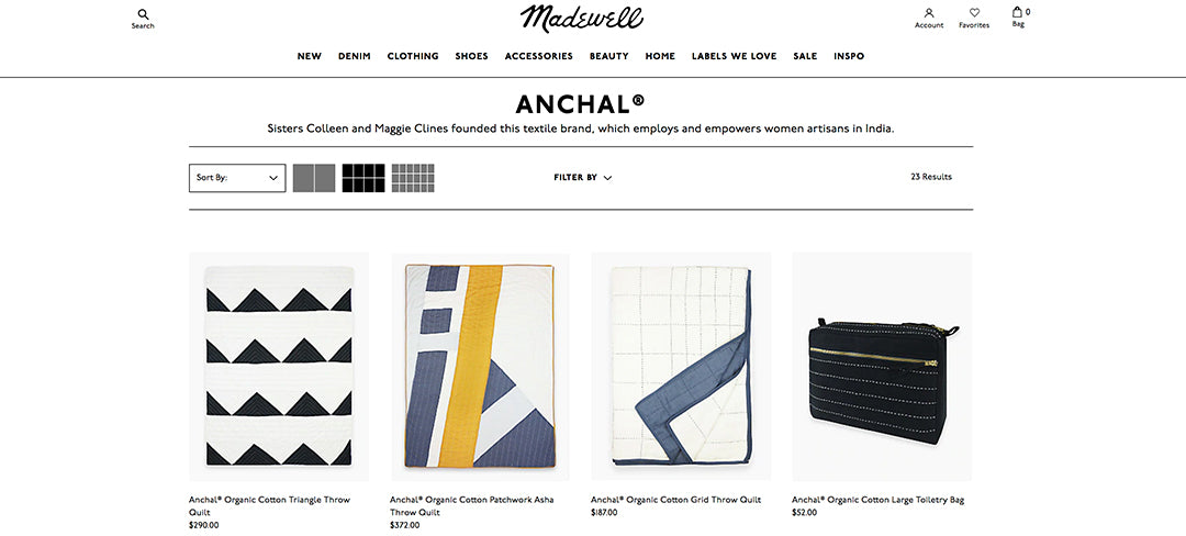 anchal sold on madewell website