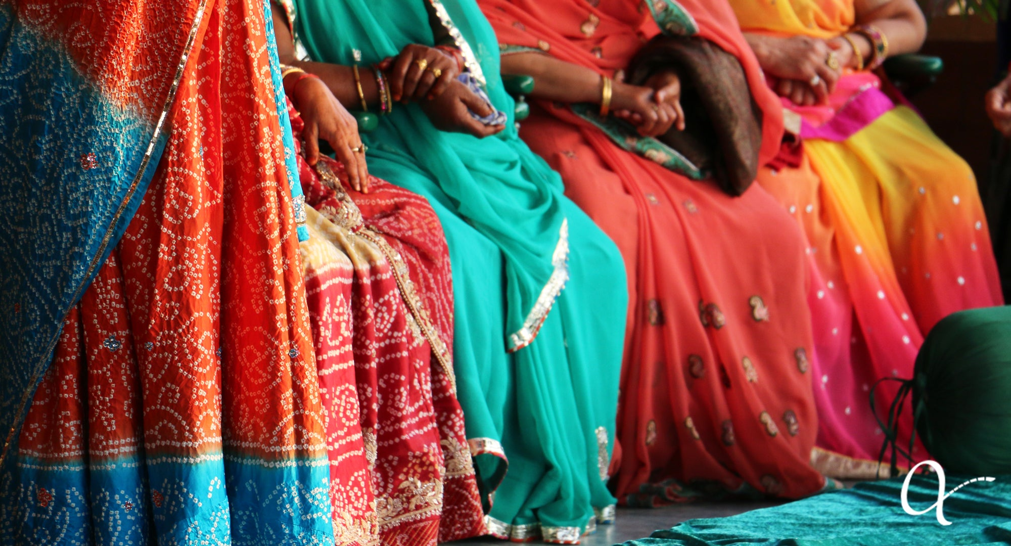 Anchal artisans in colorful saris