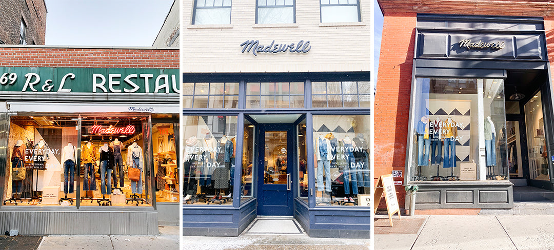 madewell storefront window display