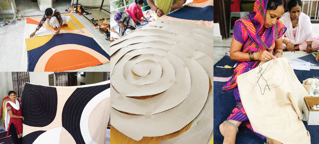 Anchal Artisans working on Guggenheim products