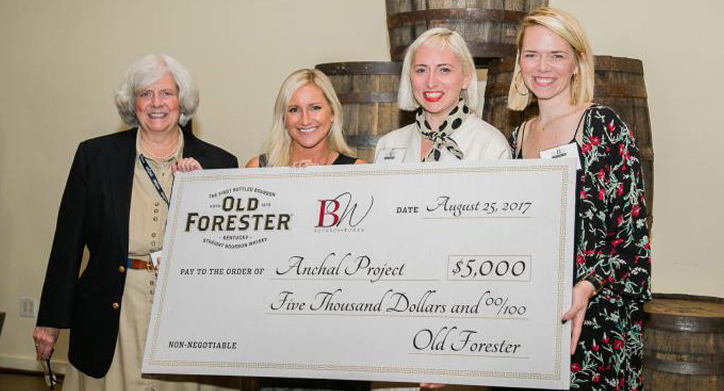 old forester donates check to anchal project