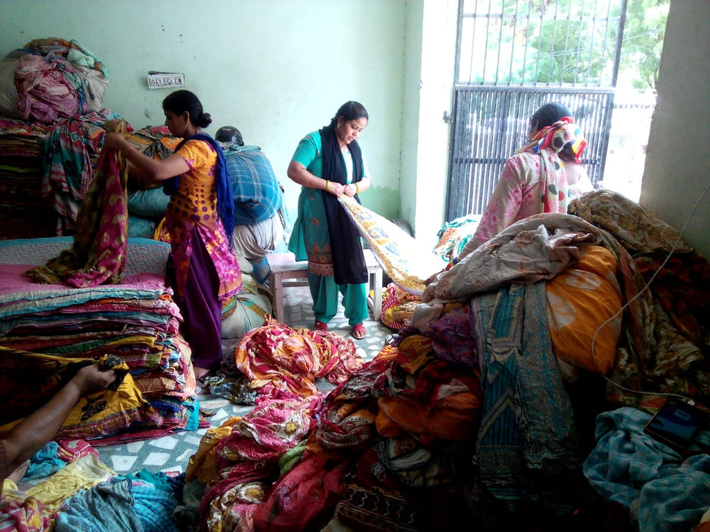vintage cotton sari sourcing