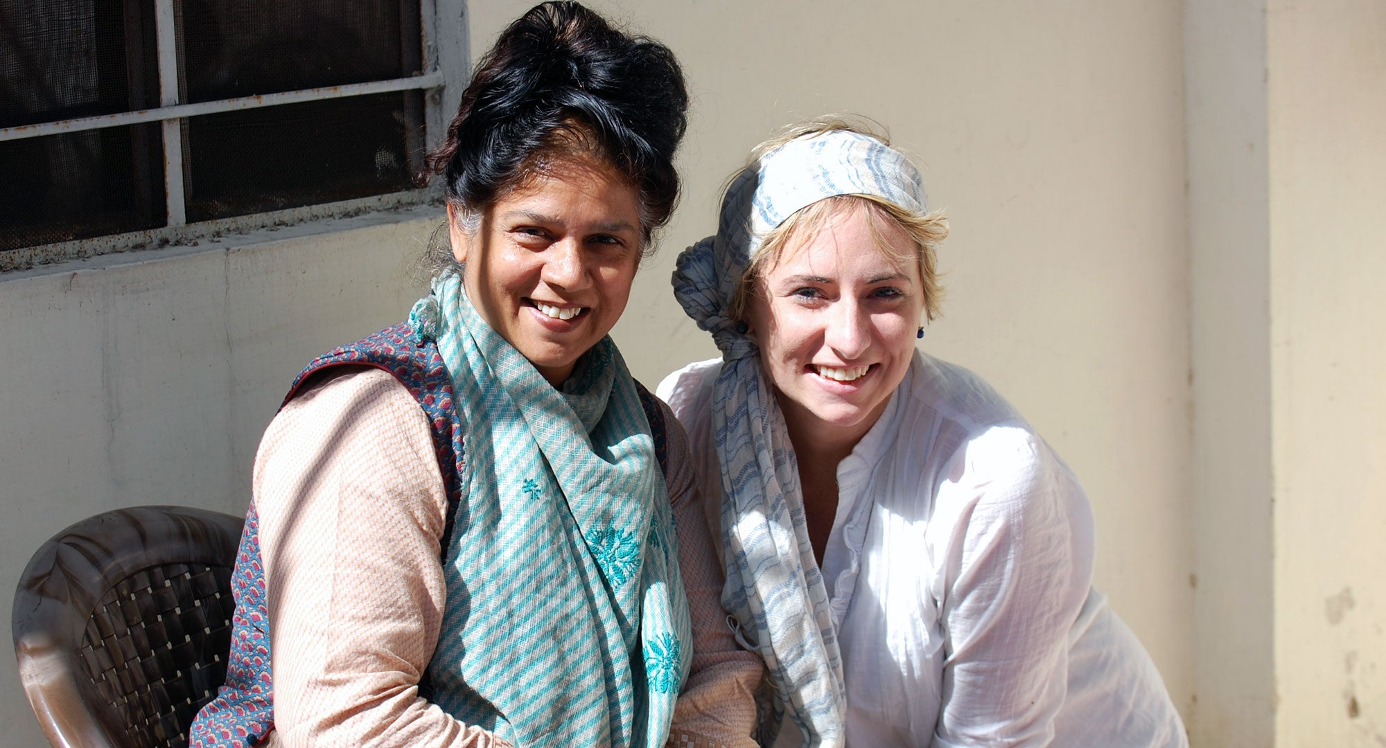 Jaimala Gupta with Colleen Clines of anchal Project