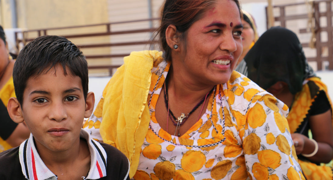 Anchal artisan Maya and her son