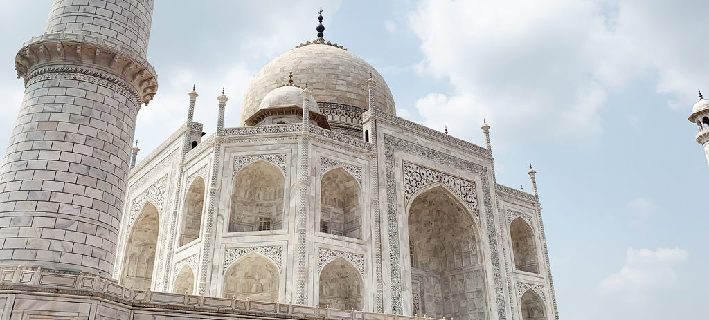 The exterior of the Taj Mahal