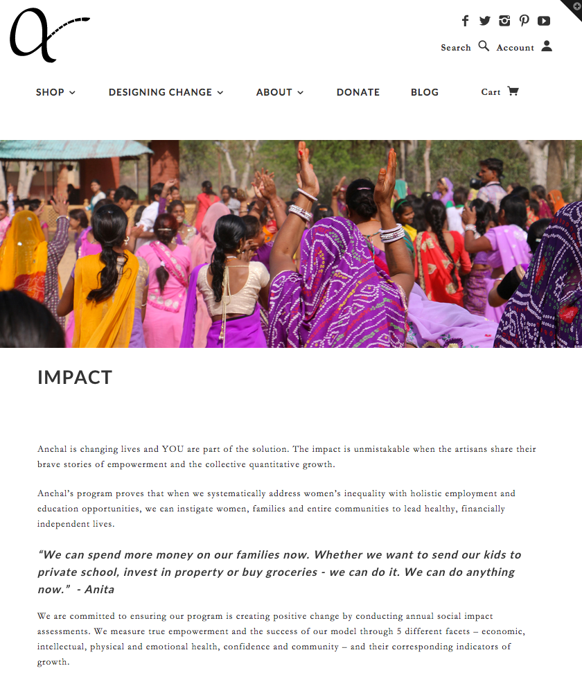 Anchal Project - Impact