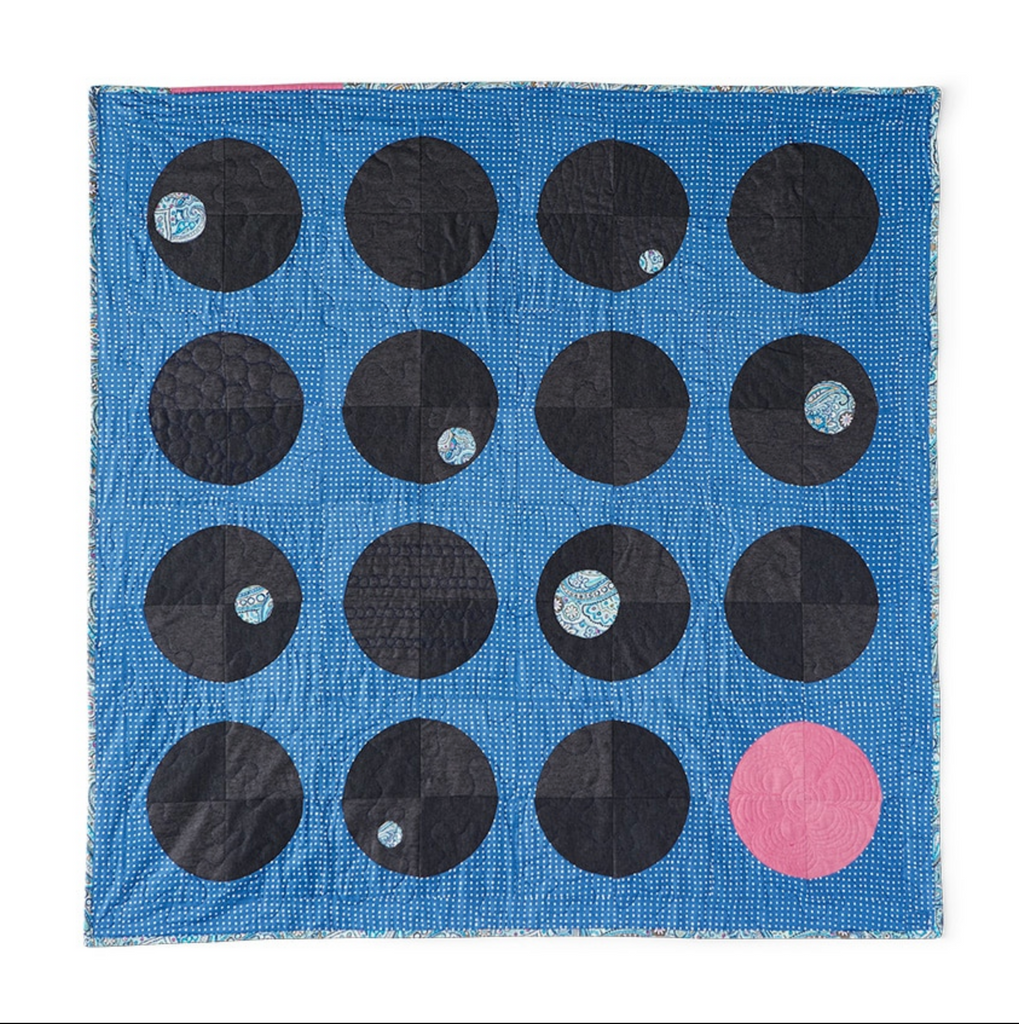 Heather Hancsak's quilt inspired by Daisy Dot Paisley