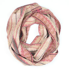 pink and cream Infinity Scarf | Anchal Project