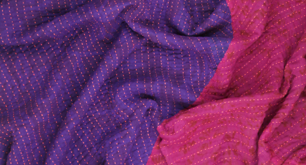 Anchal Project Large Bias Throw - Violet and Fuchsia