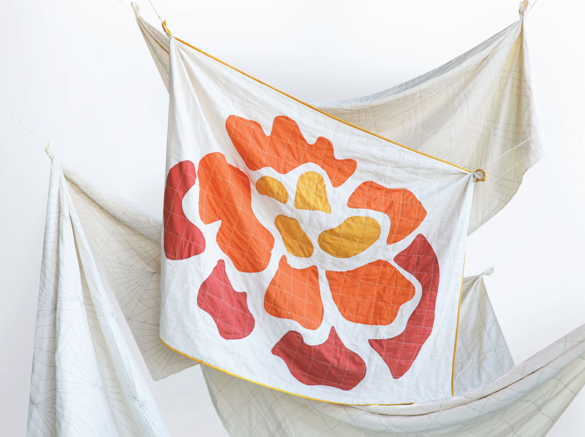 marigold quilt throw by Anchal Project