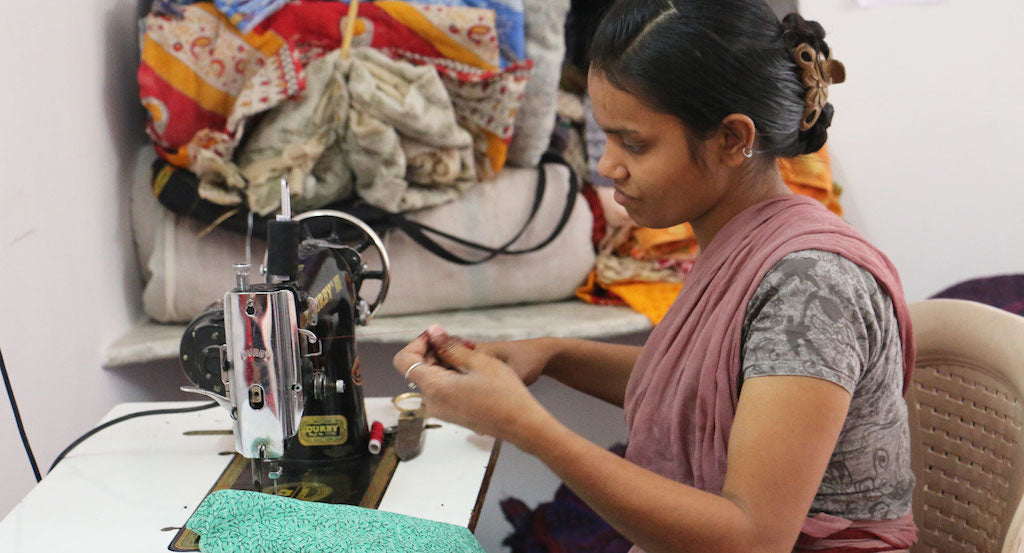 anchal india artisans nazia sewing